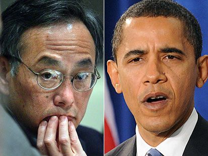 """Obama Wants $ 7-$ 9 Gas Prices.  His Secretary of Energy, Steven Chu, """"openly suggested that higher gasoline prices would solve America's energy problems forcing people to buy over-priced, inefficient alternative energy cars."""""""