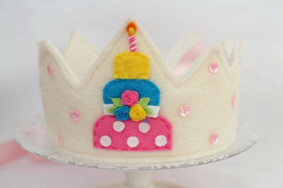 Felt Crown birthday by EnchantedPaisley on Etsy