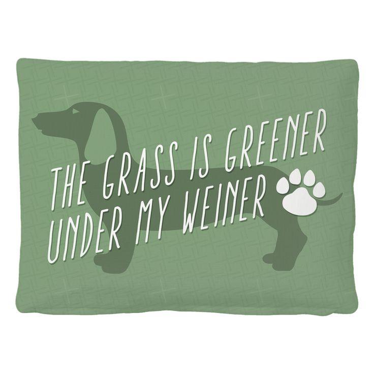 Greener Weiner Pet Bed