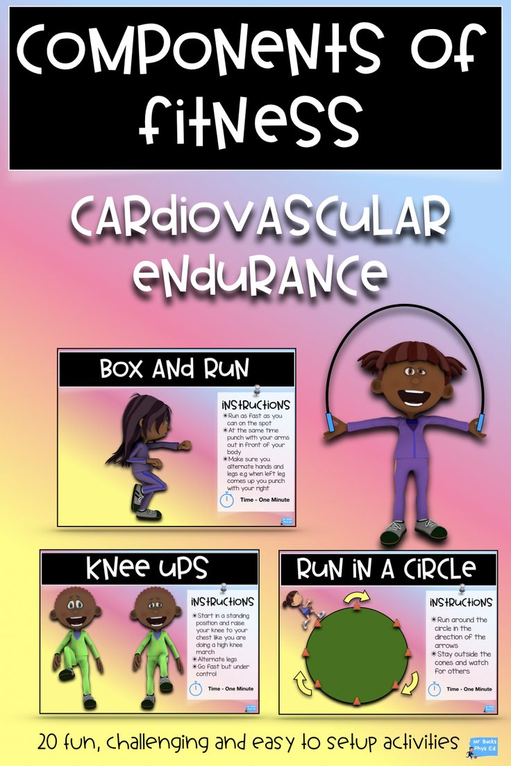 Components of fitness task cards cardiovascular