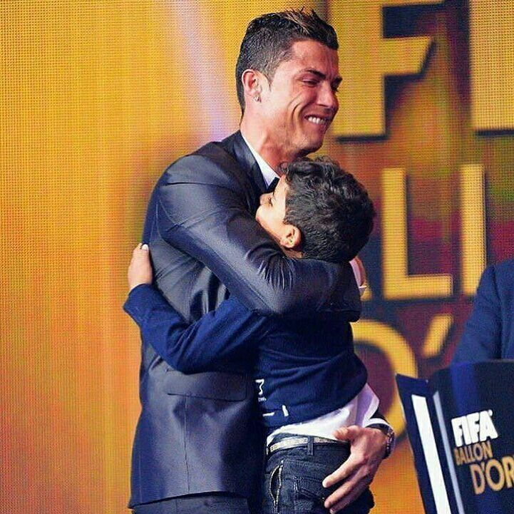 """All of these, for you' Cristiano Ronaldo with son, Junior at the Ballon d'Or awards ceremony"