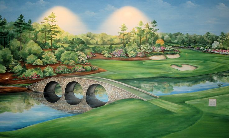 7 best masters golf mural reference images on pinterest