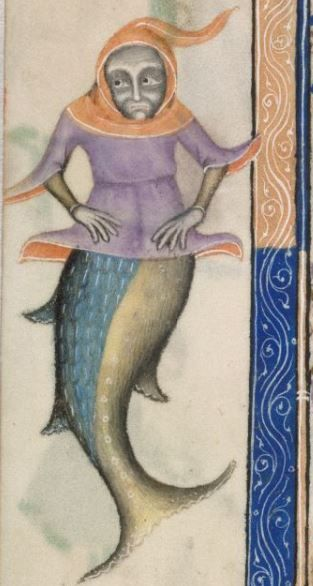 Detail from The Luttrell Psalter, British Library Add MS 42130 (medieval manuscript,1325-1340), f169v