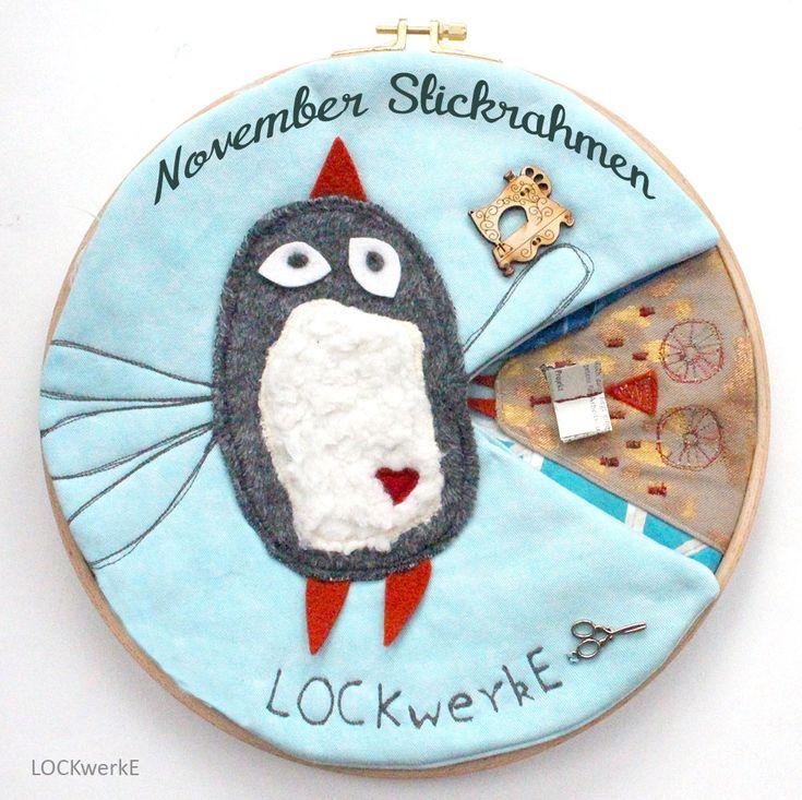November-Stickrahmen 2017: Inspirationsquelle - Blogname - Lieblingstechnik