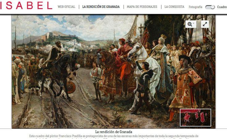 Cuadro de la Rendición de Granada en la serie Isabel | lab.RTVE.es