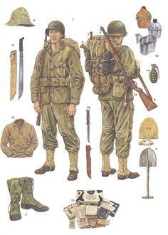 Image result for painting ww2 american infantry