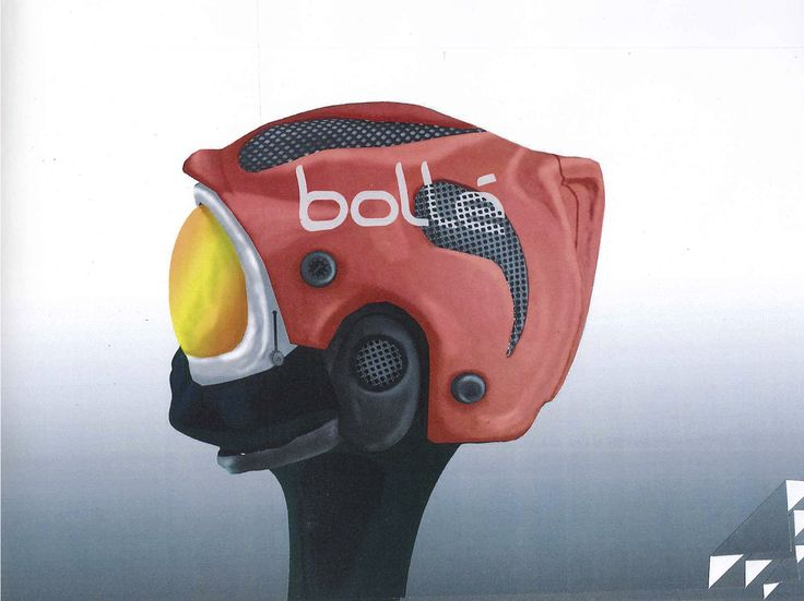 Concept Ski Helmet and Goggles for heads up display incorporating Bolle branding.