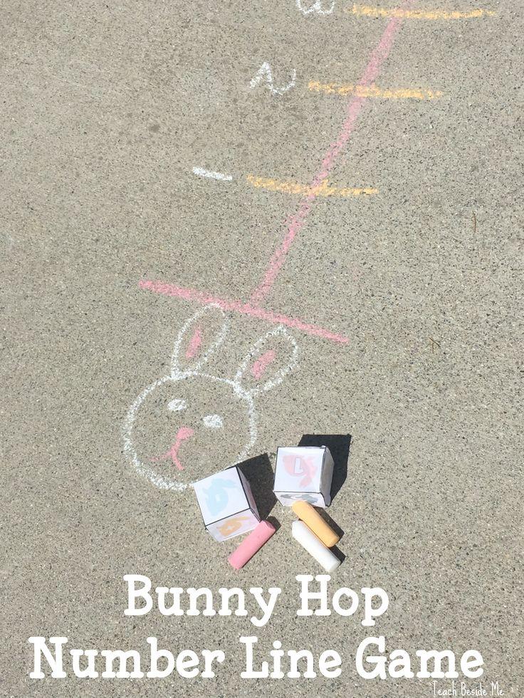 Bunny Hop Number Line Game via @karyntripp