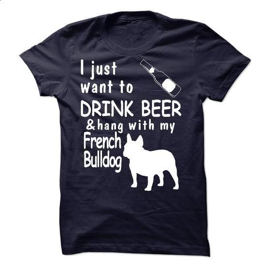 **Beer and Frech Bulldog** - #make your own t shirts #custom t shirt design. GET YOURS => https://www.sunfrog.com/LifeStyle/Beer-and-Frech-Bulldog.html?60505