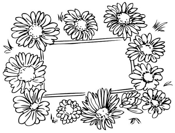 Spring Flower Cards Coloring Pages For Kids