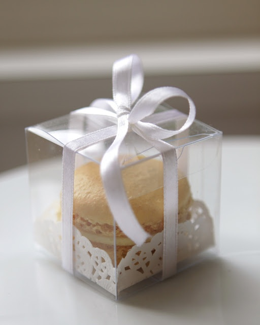 Gold Favor Boxes 4x4x4 : Best images about macarons packaging on