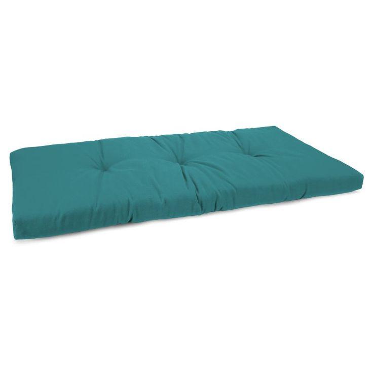 Jordan Manufacturing 38 x 16.5 in. Indoor/Outdoor Bench Cushion Forsythe Peacock - 9594PK1-2822E