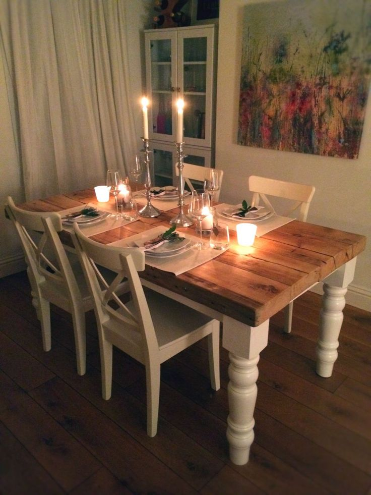 Dining Table -- Rustic Dining Table -- Traditional Farmhouse style -- Reclaimed Wood by CadenceWoodwork on Etsy https://www.etsy.com/listing/216546482/dining-table-rustic-dining-table