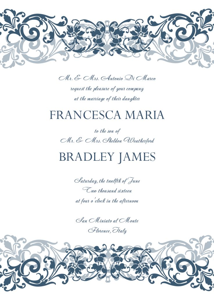 25 best Wedding Invitation Templates images on Pinterest Wedding - free invitation template downloads