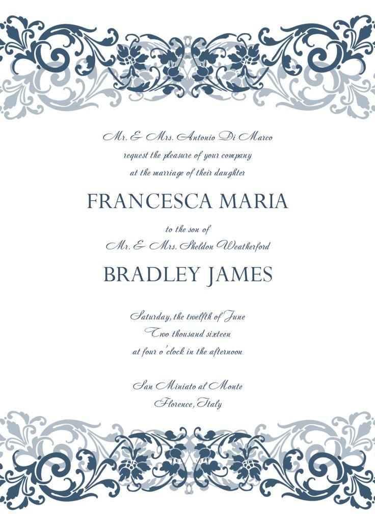 best 25+ free wedding invitation templates ideas on pinterest,