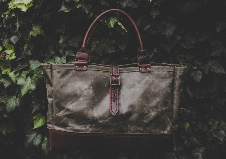 The Vera Tote in Olive Green.