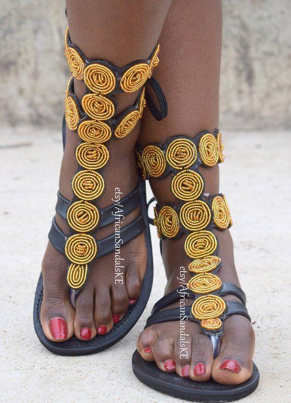 GLADIATOR SANDALS Leather Sandals Greek Sandals African