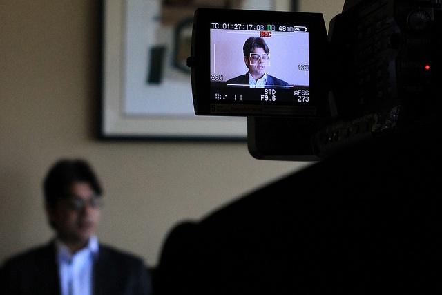Media interview training.