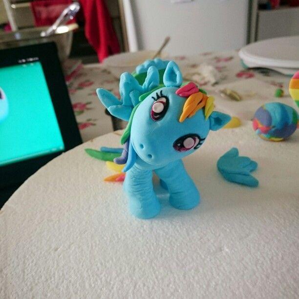 My little pony fondant figurine