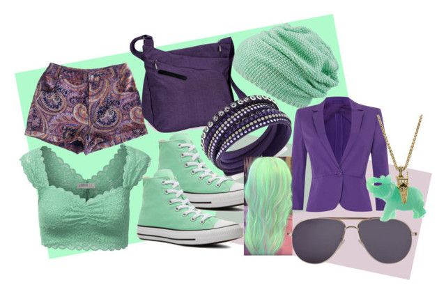 blue/green and purple by slytheriner on Polyvore featuring J.TOMSON, MaxMara, MINKPINK, Converse, Overland Equipment, Swarovski, maurices and Tom Ford