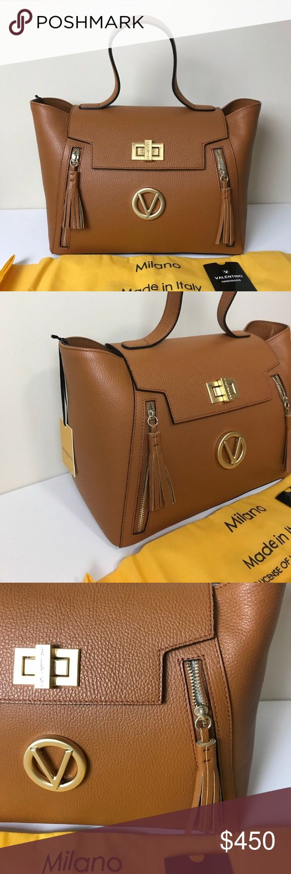 NWT Valentino Camilla tote brown Valentino Camilla tote handbag purse. Brand new no flaws. Authentic with paperwork,dustbag and crossbody strap.  Valentino by Mario Valentino Mario Valentino Bags Totes #valentinopurse