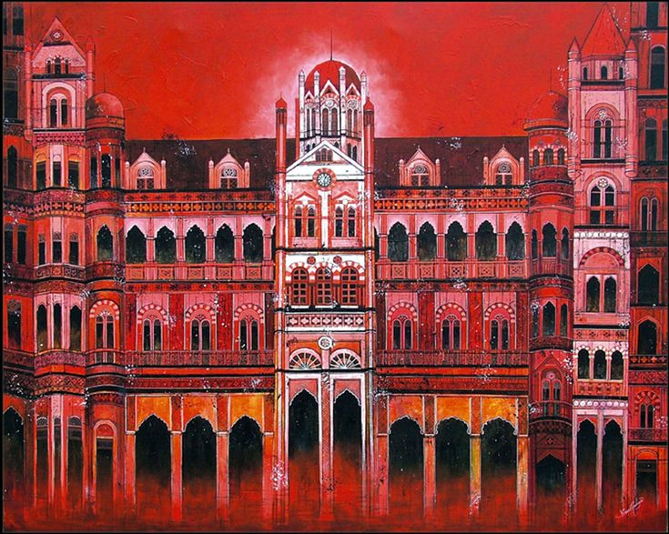 CST - Chhatrapati Shivaji Terminus Print by Suesh Gulage. CST. This artwork of the historic UNESCO world heritage site is an Old Railway Station was completed in May 1888.