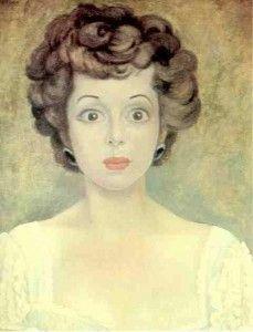 """Retrato de la escritora mexicana Guadalupe """"Pita"""" Amor (1918-2000) por Diego Rivera"""