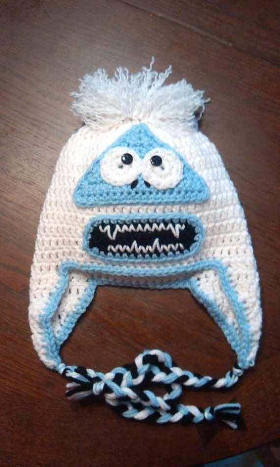 Crochet Hat Abominable Snowman Yeti Abominable by AJsCrochets