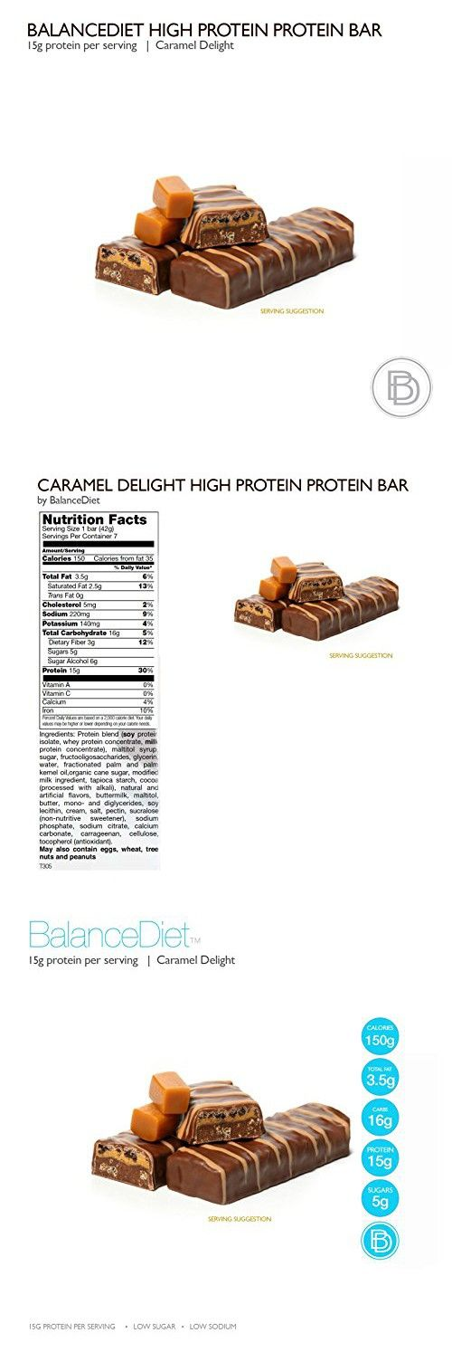 Best Tasting Protein Bars by BalanceDiet, Caramel Delight (Single Size 7 bars)