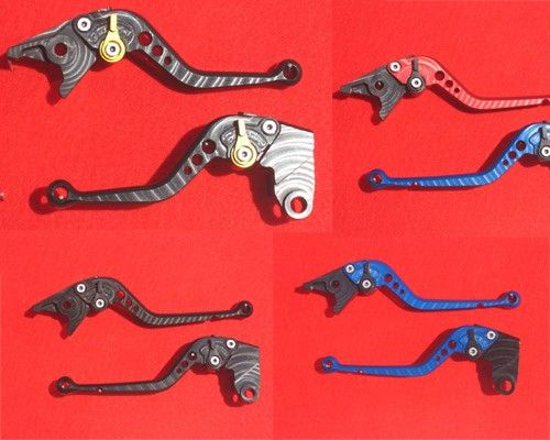 Pazzo Levers for ZX10R 06-15 - Shorty set in blue, perfect SoloMotoParts.com $180