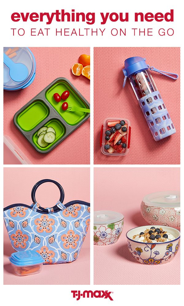 Packing a lunch gives you control over what you eat, making it easier to stick to those resolutions. Upgrade your lunchbox and fill it with stylish to-go containers and an infuser water bottle for healthy eating on the go. Head to your local T.J.Maxx to stock up on everything you need to pack the perfect lunch.