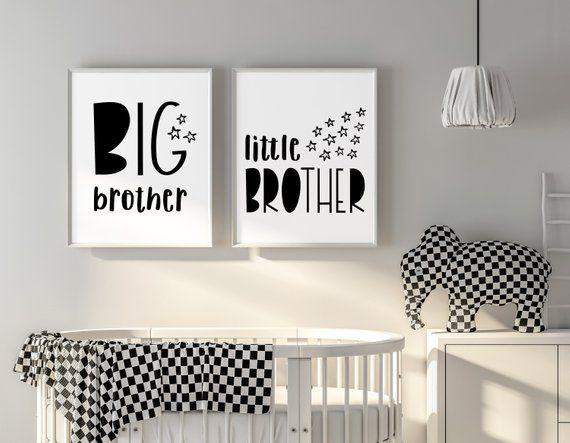 Big Brother Little Brother Wall Art Instant Download Etsy Sister Room Decor Kids Room Sign Shared Girls Bedroom