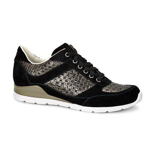 UGG® Australia - Avelyn Metalic - Damen Sneaker Turnschuh Schnürer in Metalic Optik 1011889, Schwarz (Black), US 7 / EUR 38 - http://on-line-kaufen.de/ugg/38-eu-ugg-australia-annetta-damen-sneaker-1012209