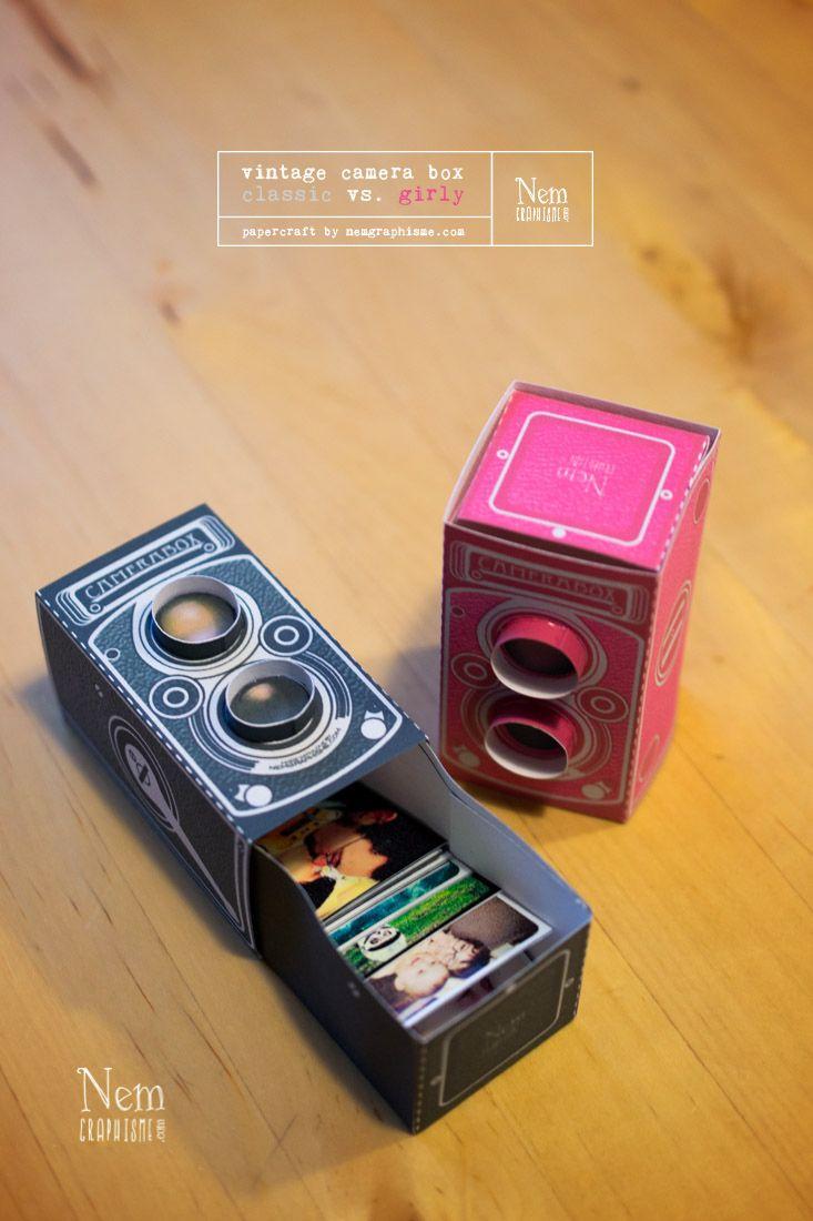 - DIY - Vintage camera box... avec de l'amour dedans (à imprimer) - NemGraphisme