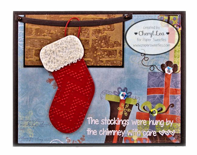Ink Up: Christmas card using Paper Sweeties Dear Santa and HoHoHo stamps and dies.