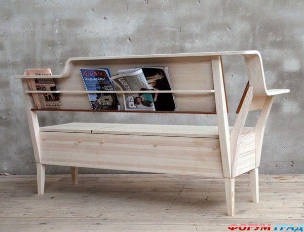 Скамья På Sofflocket из натурального дерева – стильная и удобная мебель для просторной кухни в стиле кантри