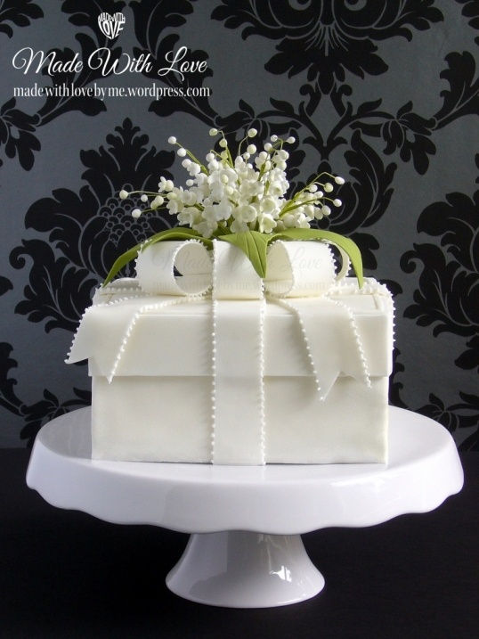 Lily of the Valley Box Cake