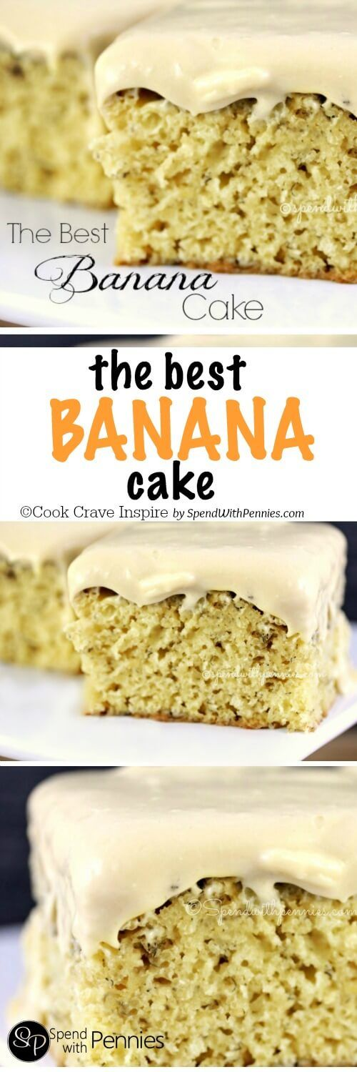 The BEST Banana Cake! This cake is moist and delicious... literally the best banana cake I've ever had!