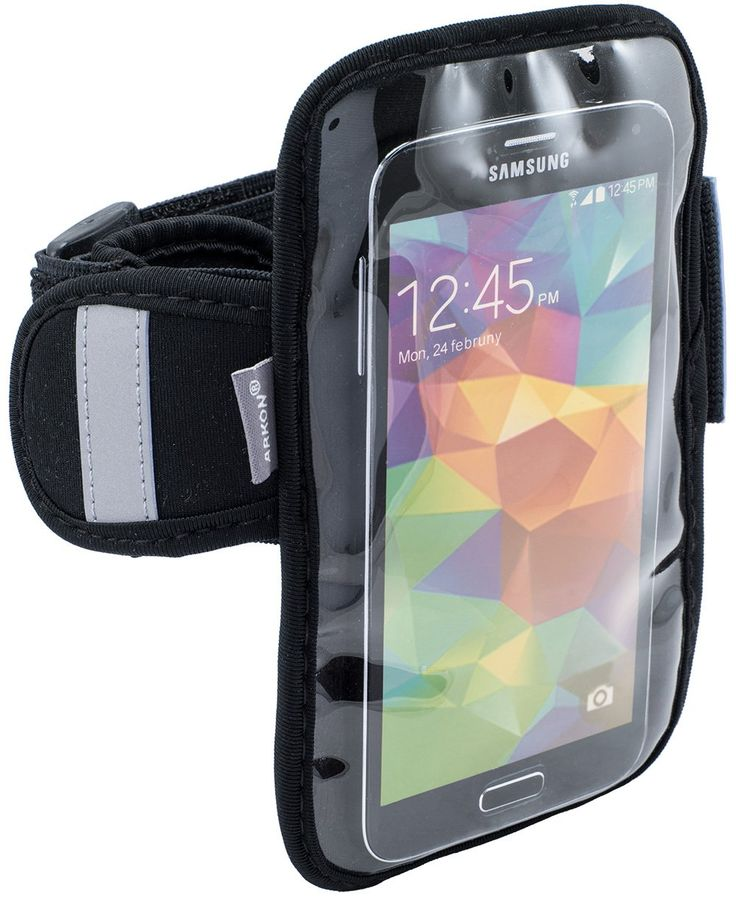 Arkon Sports Running Jogging Neoprene Smartphone Armband iPhone 6S 6 with Case Samsung Galaxy S6 S5 HTC One M9 - Retail Packaging - Black. For iPhone 6S and 6 with case Galaxy S6 and phones with screen size up to 5.3 inches or 5.5 inches in height. Includes a small storage pouch and touch compatible cover. Neoprene armband secures with nylon hook and loop closure. 2 year limited warranty.