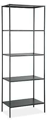 Slim Bookcases in Natural Steel - Bookcases & Shelves - Living - Room & Board