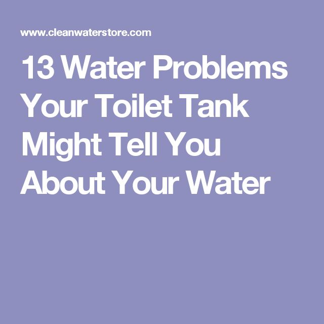 13 Water Problems Your Toilet Tank Might Tell You About Your Water