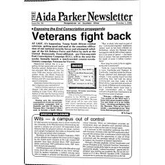 Very Rare, Apartheid Era Anti - Communist, The Aida Parker Newsletter. 11 Editions