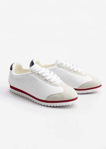 Mango Outlet Contrast panel sneakers