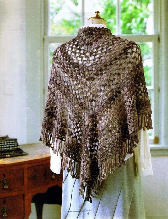 265 mejores imágenes de Crochet Shawl scarf en Pinterest | Ropas de ...