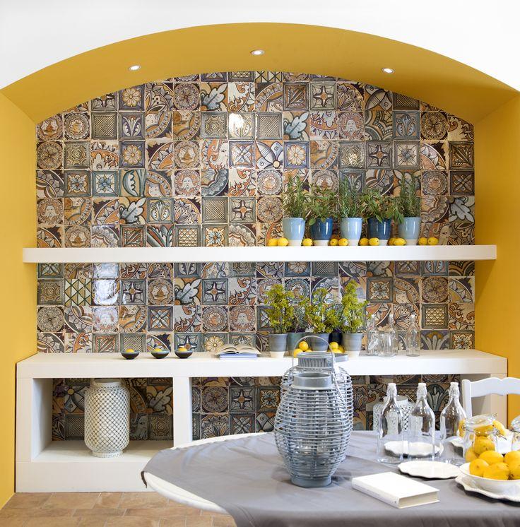 Kitchen Tiles CUCINA GIALLA VISTA || Stunning tiles by Del Conca Faetano #ernestetileconcepts #erneste