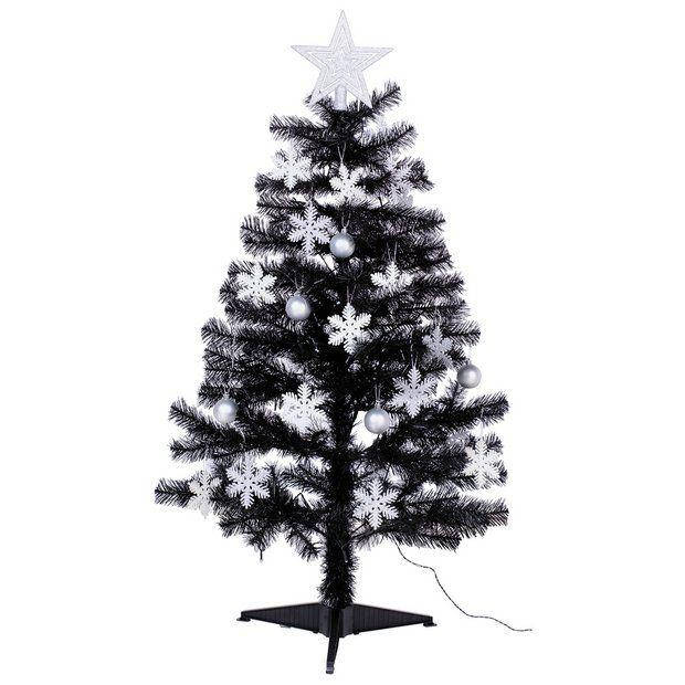 4ft Christmas Tree Black White Silver At Argos Pencil Christmas Tree Green Christmas Tree 4ft Christmas Tree