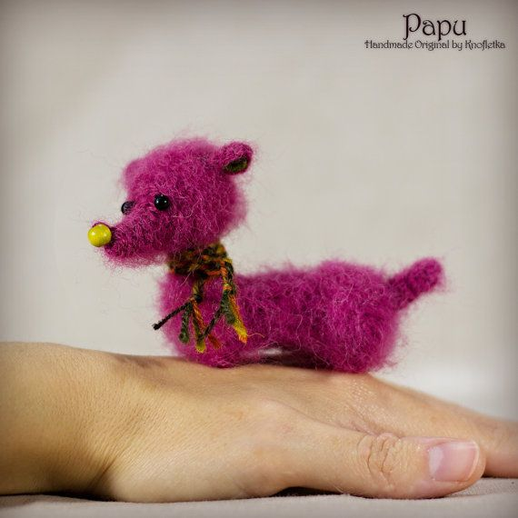 Papu - Original Handmade Little Dog/Collectable/Gift/Charm