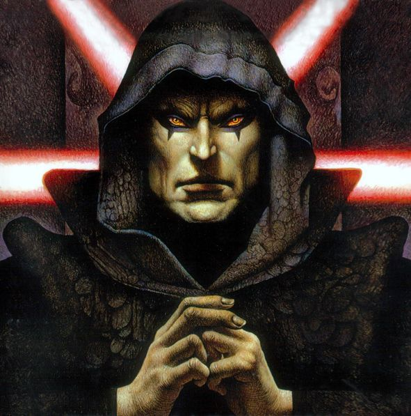 "Darth Bane - Dark Lord of the Sith in the Darth Bane book series. He was responsible for regaining the ""Rule of Two"" that states there shall only ever be two Sith warriors at a time, a Master and an Apprentice, during the Old Republic."