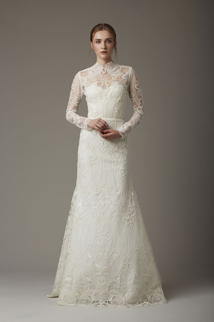 high neck x lace #wedding dress ::  :: Spring 2016 Bridal collection by Lela Rose