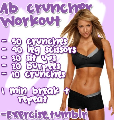 Ab Cruncher Workout (full body)